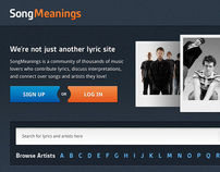 SongMeanings.net Redesign