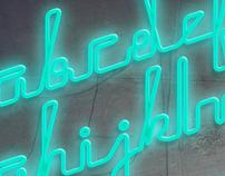 Rech Neon PseudoScript Typography