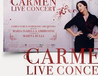 Carmen live concert manfesto e campagna marketing