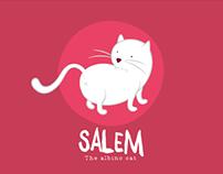 Salem, the Albino Cat