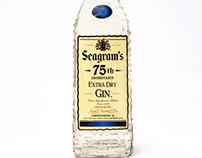75th Anniversary Seagram's Gin. Spanish bottle