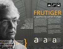 Frutiger Typeface Poster