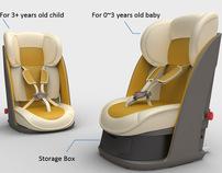 Child safety seat design