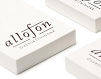 Allofon logo & business card design