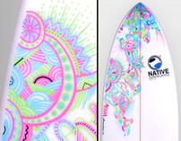 Illustration Surfboard Handmade