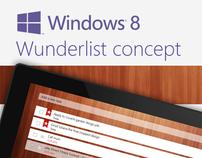 Wunderlist Concept for Windows 8
