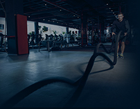 WEB design and logo. Personal fitness trainer page.