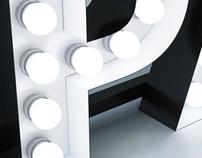 Bulbs letters - 3d visualization