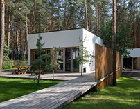Guest houses in the pine forest