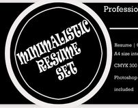 Minimalistic Resume PSD Set (Free-bie)