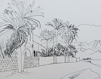 Images of Dahab in ink pen