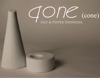 Qone (cone): salt & pepper dispenser