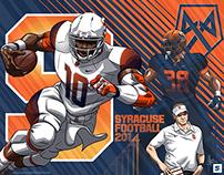Syracuse Football Art