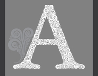 High detailed vector letters