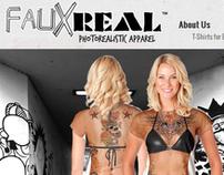 fauxrealshirt.com Web Design