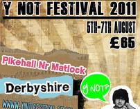 student work YNOT festival rebranding