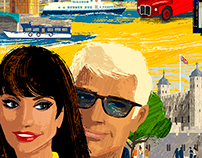 London You Are Here! Travel Poster