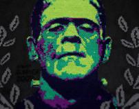 Frankenstein Cross-Stitch