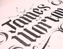 Self Branding: Hand drawn type.