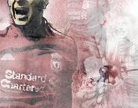 Steven Gerrard Liverpool Illustration