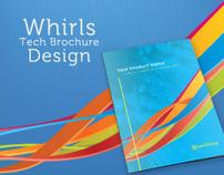 Whirls Technology A4 Brochure Template