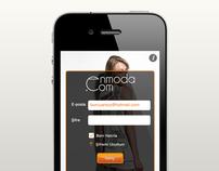 Enmoda iPhone Application - UI & UX Design