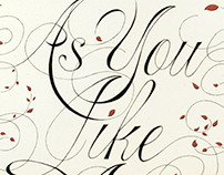 """As You Like It"" poster"