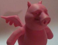 SwineFlew Toy Figure