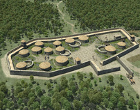 Carcassonne's reconstruction in 3D