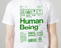 Human Being Green - Climate Week charity shirt