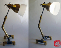 Brass Pipe Lamp Design
