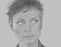 Portrait of Morena Baccarin (Digital)