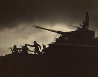 II World War Toy Soldiers Photo Shooting