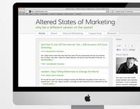 Altered States of Marketing Wordpress Blog Design