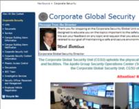 Revamp of Corporate Security Website