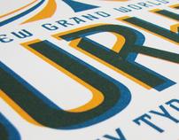 Letterpress Type Specimen Poster