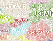 Europe with type.