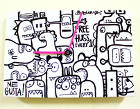 Monsta Attack! canvas clock