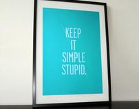 Keep it simple screenprint