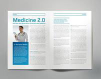 publishing / medicine magazine layout