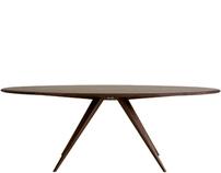 Darcey Table - Award winning dining table in walnut