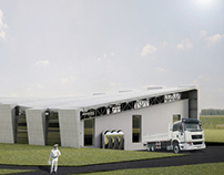 Industrial architecture - small creamery in Krośnice