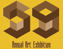 POSTER DESIGN FOR THE COLLEGE ANNUAL ART EXHIBITION
