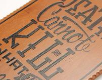 El Diablo Burned Skate Deck - Stack the Decks Art Show