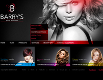 Barrys Hair studio | website
