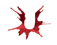 Blood Spatter Typography