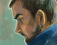 portrait colour sketch