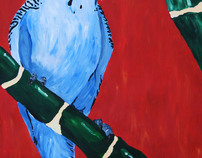 Parakeet -ACRYLIC PAINTING