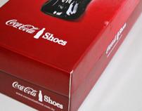 Embalagem garrafa tênis  Coca-Cola Shoes