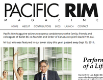 Pacific Rim Magazine Website
